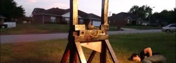 Using A Guillotine Against A Spray Paint Can Brings Unexpected & Hazardous Results