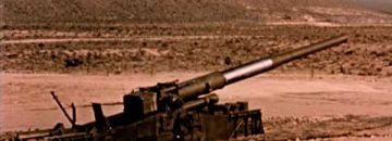 280mm Cannon Fires An Atomic Projectile At A Nevada Test Site