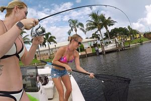 Our Favorite 'Fishing Girl Next Door' Vicky Stark Goes Lake Fishing For Bass & Peacock Bass