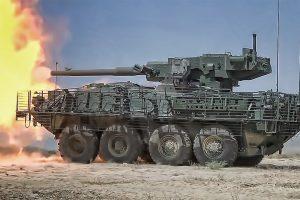"The M1128 Mobile Gun System aka ""Stryker""...I'll take 2 of em'"