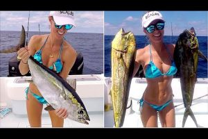Vicky Starks Goes On An Epic Offshore Fishing Advenure For Snapper - Mahi mahi - Tuna & Grouper